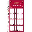 Advent Calendar Col. 101 Red/Metallic (60cm)