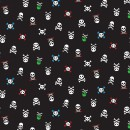 Walk the Plank Col. 104 Skulls Black