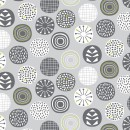 Leafy Meadow Col. 104 Circles Light Grey